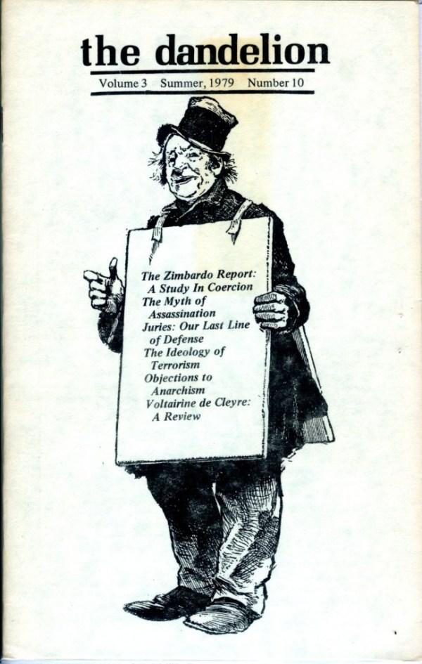 the dandelion libertarian magazine