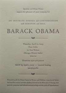 Barack Obama invitation
