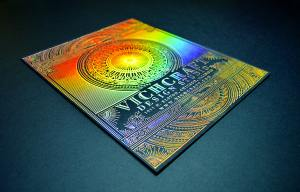 Holographic foil stamped corporate poster