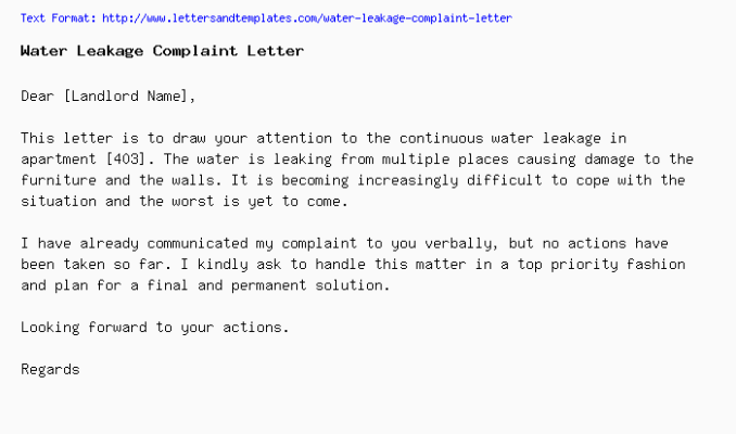 Apartment management complaint letter sample newsinvitation water leakage complaint letter png spiritdancerdesigns