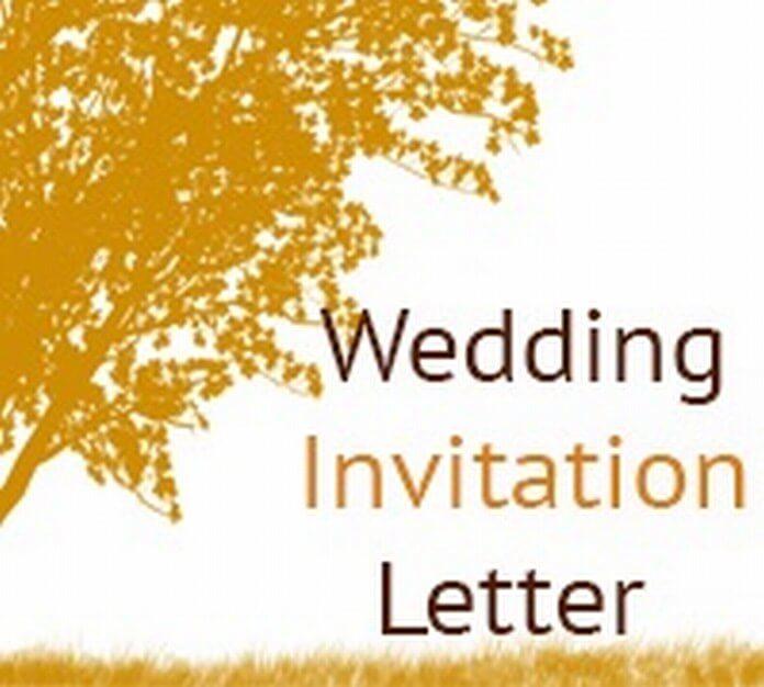 wedding invitation letter free letters