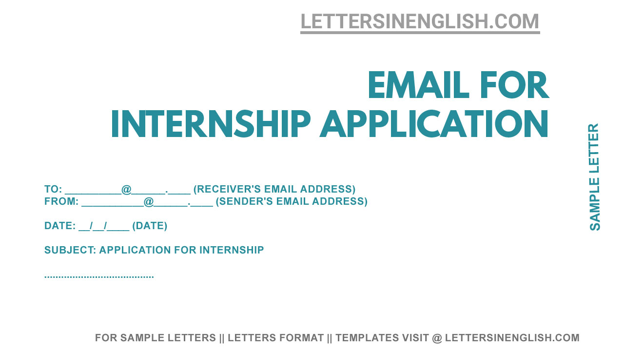 Write an Email for Internship - Sample Email for Internship