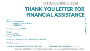 thank you letter for funding support, sample thank you letter for support during illness, sample thank you letter for financial support during illness