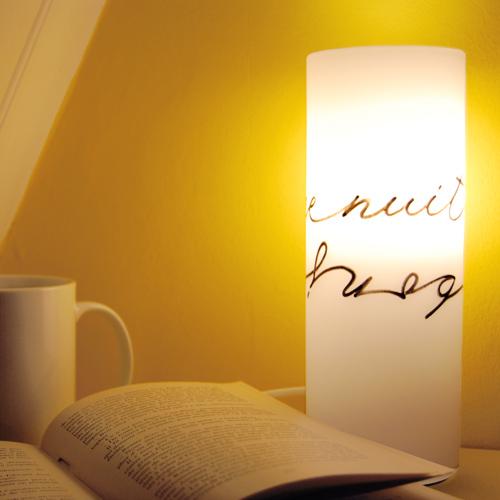 """Lampes de chevet """"bonnenuit - bonjour"""""""