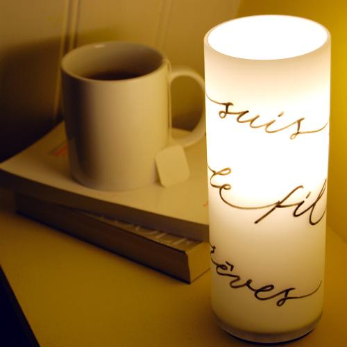 """Lampes de chevet """"suis toujours le fil de tes reves"""""""