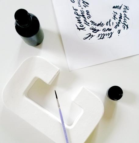 Calligraphie - Lettres décorées à la main - LettersLoveLife.com