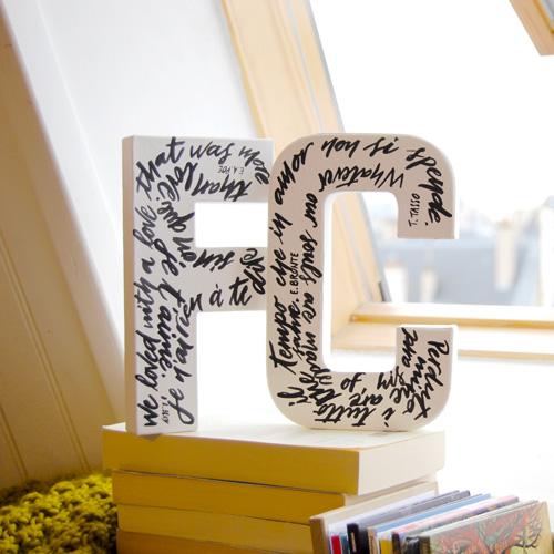 Lettres décoratives personnalisées - Letters Love Life