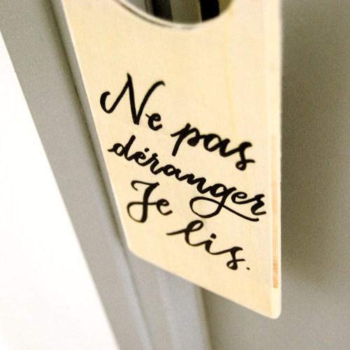 Doorahanger: un cadeau insolite pour les lecteurs | Design et calligraphie Letters Love Life
