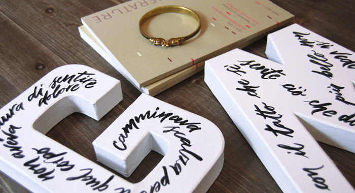 Lettres décoratives personnalisées - G et M - Calligraphie au pinceau - Letters Love Life