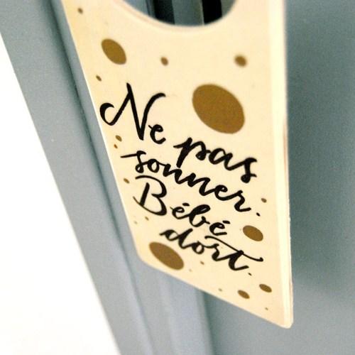 Doorhanger: idée cadeau de naissance pour la déco de la chambre d'un bébé | Letters Love Life