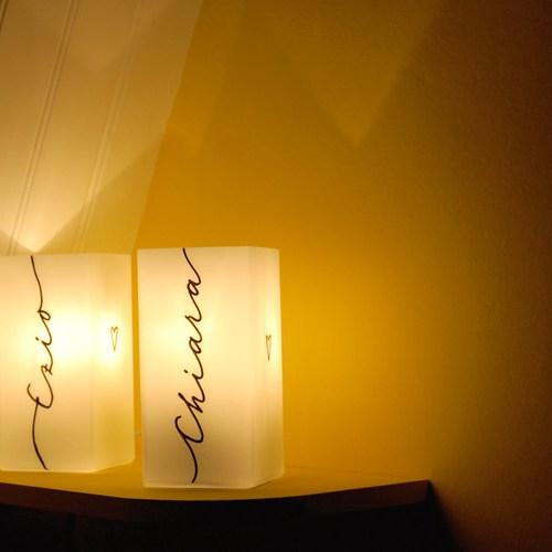 Lampe de chevet personnalisable: ideé cadeau de Noel Letters Love Life | Calligraphie Marika Salerno
