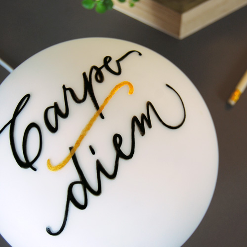 "Lampe de table, pour table basse ou bureau ""Carpe diem"" 