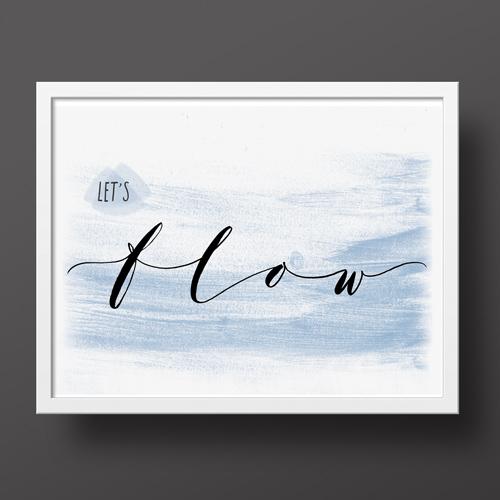 Pour ceux et celles qui aiment le yoga, pour décorer la maison avec vos passions | Affiche | Atelier calligraphe Paris