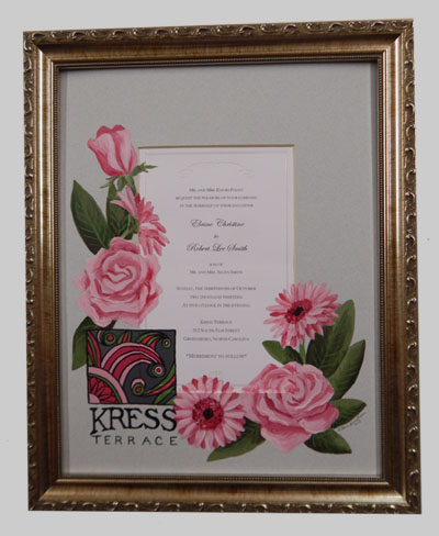 Quilled Heirloom Framed Wedding Invitation Wildlife Keepsake Gift