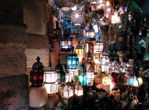 Fanous, lanterns traditionally used to decorate homes during the festive month of Ramadan.
