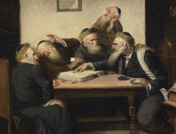 "Not to mention, ""prone to causing fistfights between old bearded men."" Detail from a painting by Austrian painter Carl Schleicher (1825-1903) {PD}"