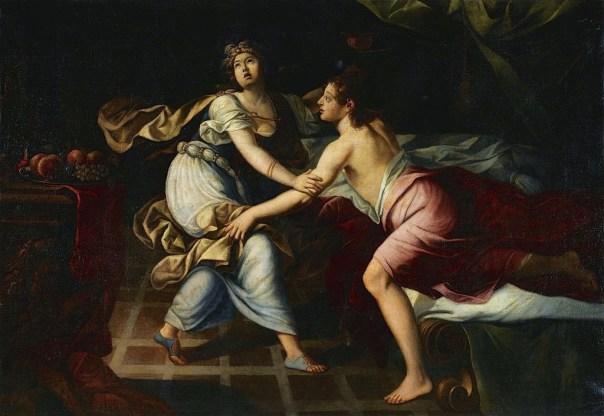painting of Amnon attacking Tamar