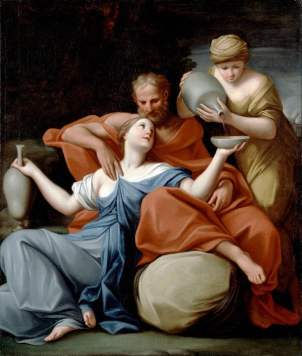 Lot's Daughters painting by Marcantonia Franceschini