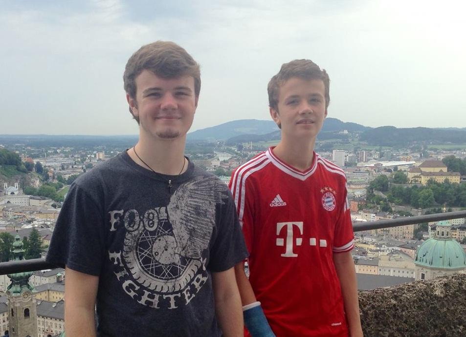 Gavin and Riley in Salzburg