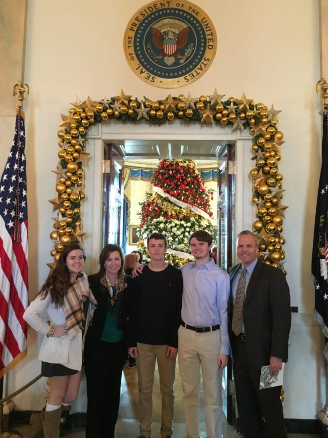 Jordan, Jill, Riley, Gavin and I during our White House tour.