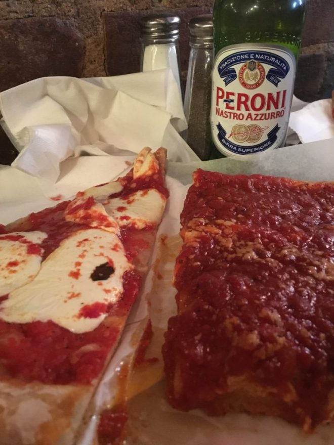 We always stop by Prince Street Pizza for lunch. It is tiny, but awesome food.