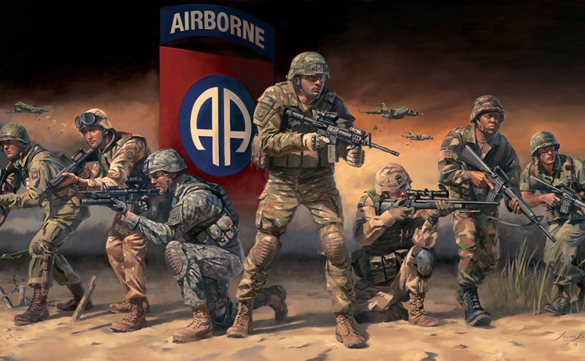 Paratroopers bleed the same color – red, white and blue