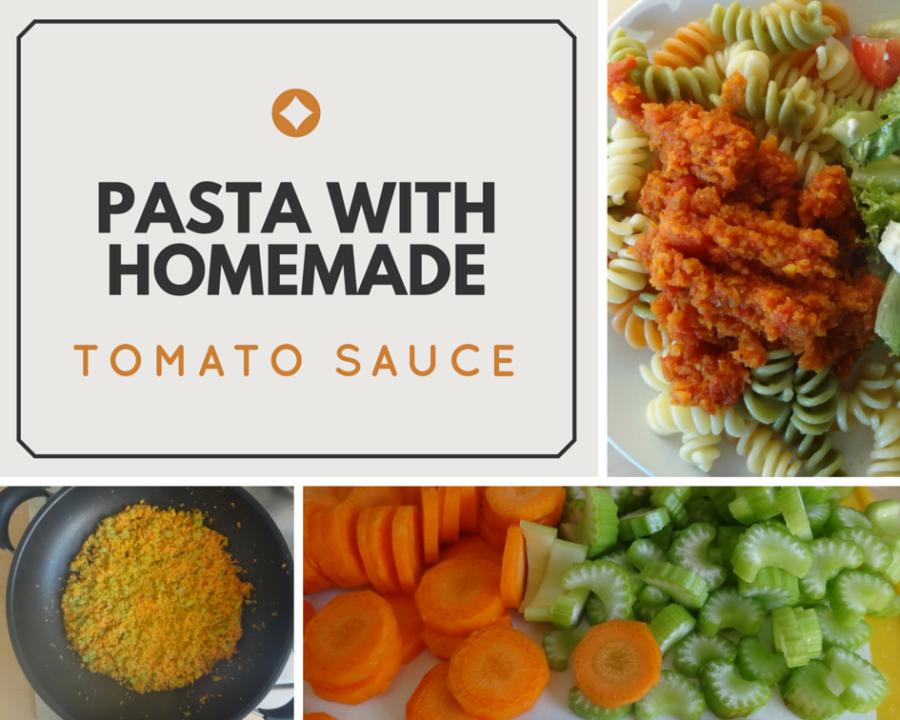 Pasta recipe with homemade tomato sauce