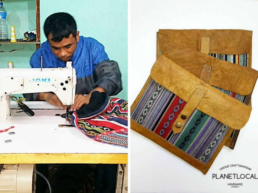 Ratna, one of the craftsmen creating unique bags for Planet Local