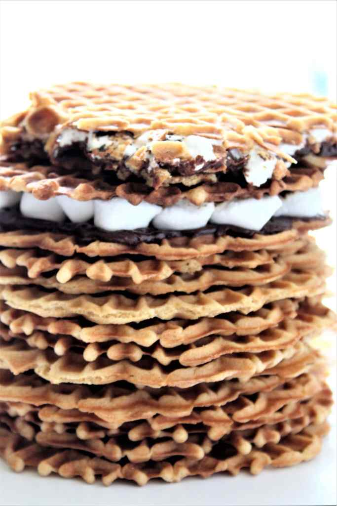 gluten free pizzelle stacked