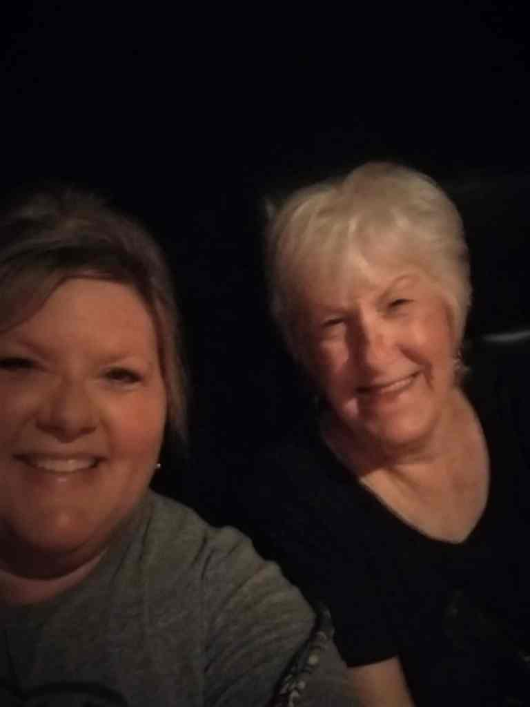 mom and I at lion king movie