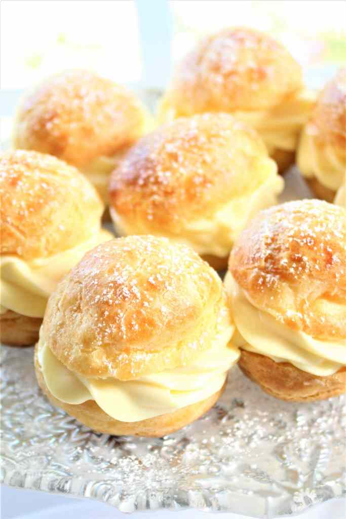 tray of gf cream puffs