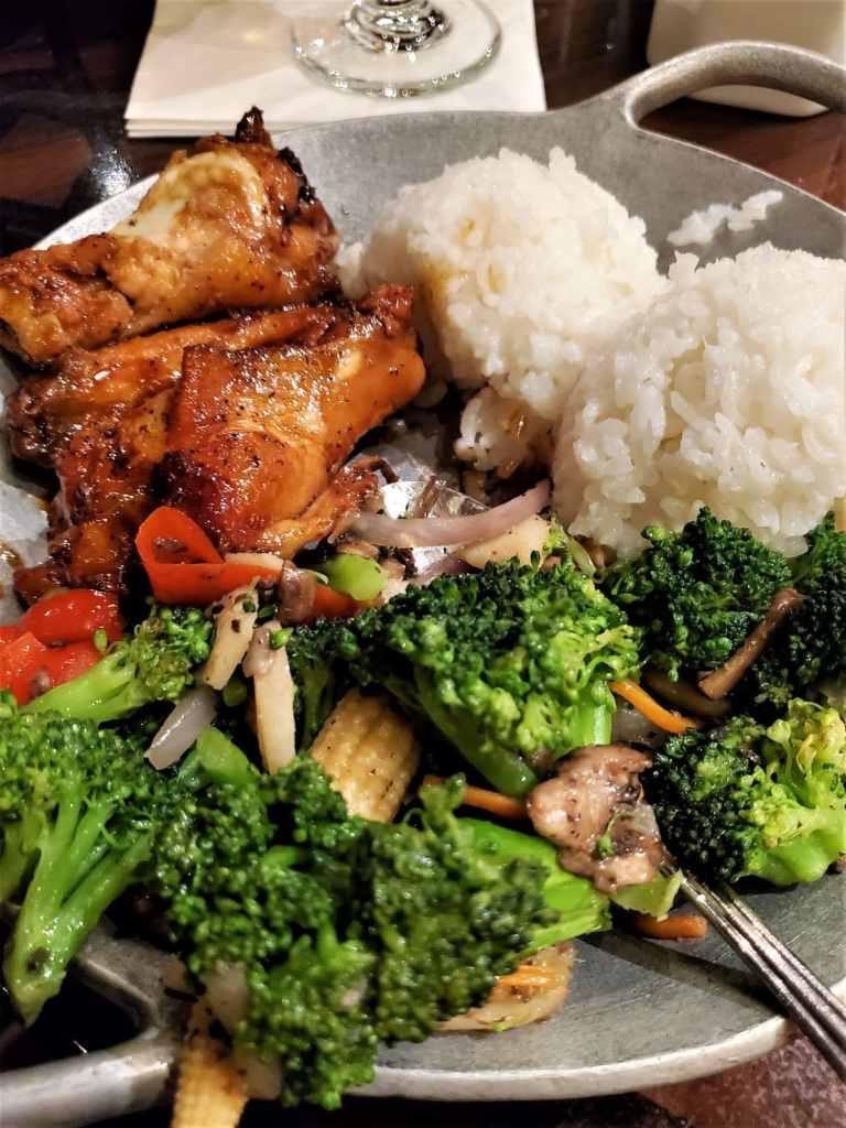 gluten free appetizer platter at ohana