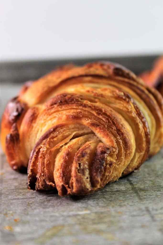 top recipes of 2020--side view of gluten free croissant