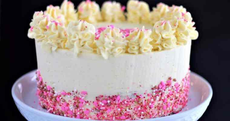 Gluten Free Red Velvet Cake with French Cream Cheese Buttercream