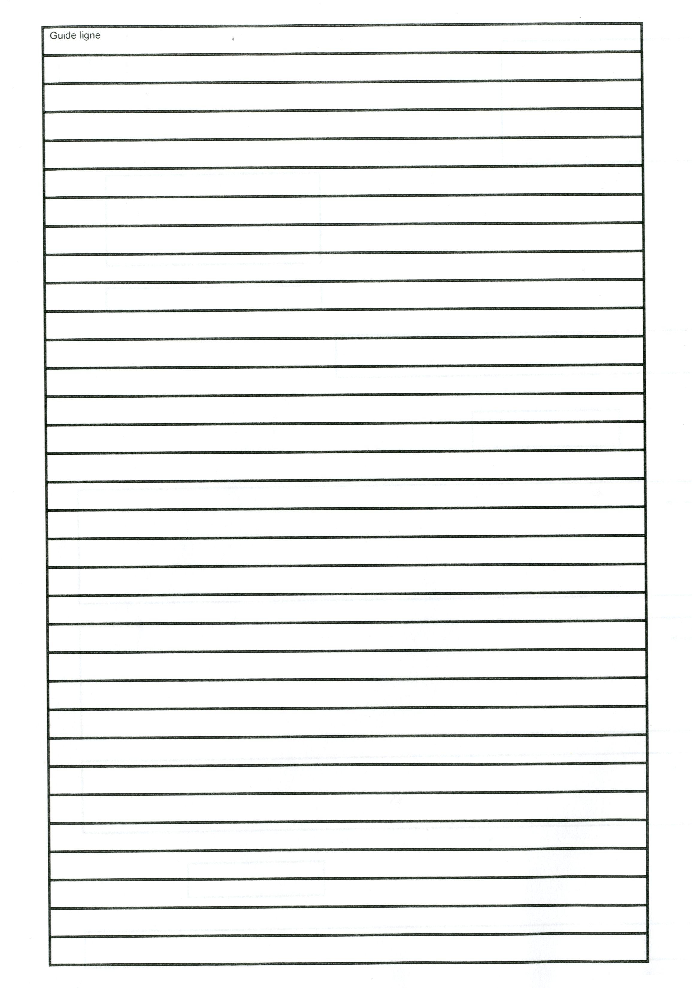 feuille avec ligne noir pour lettre de motivation