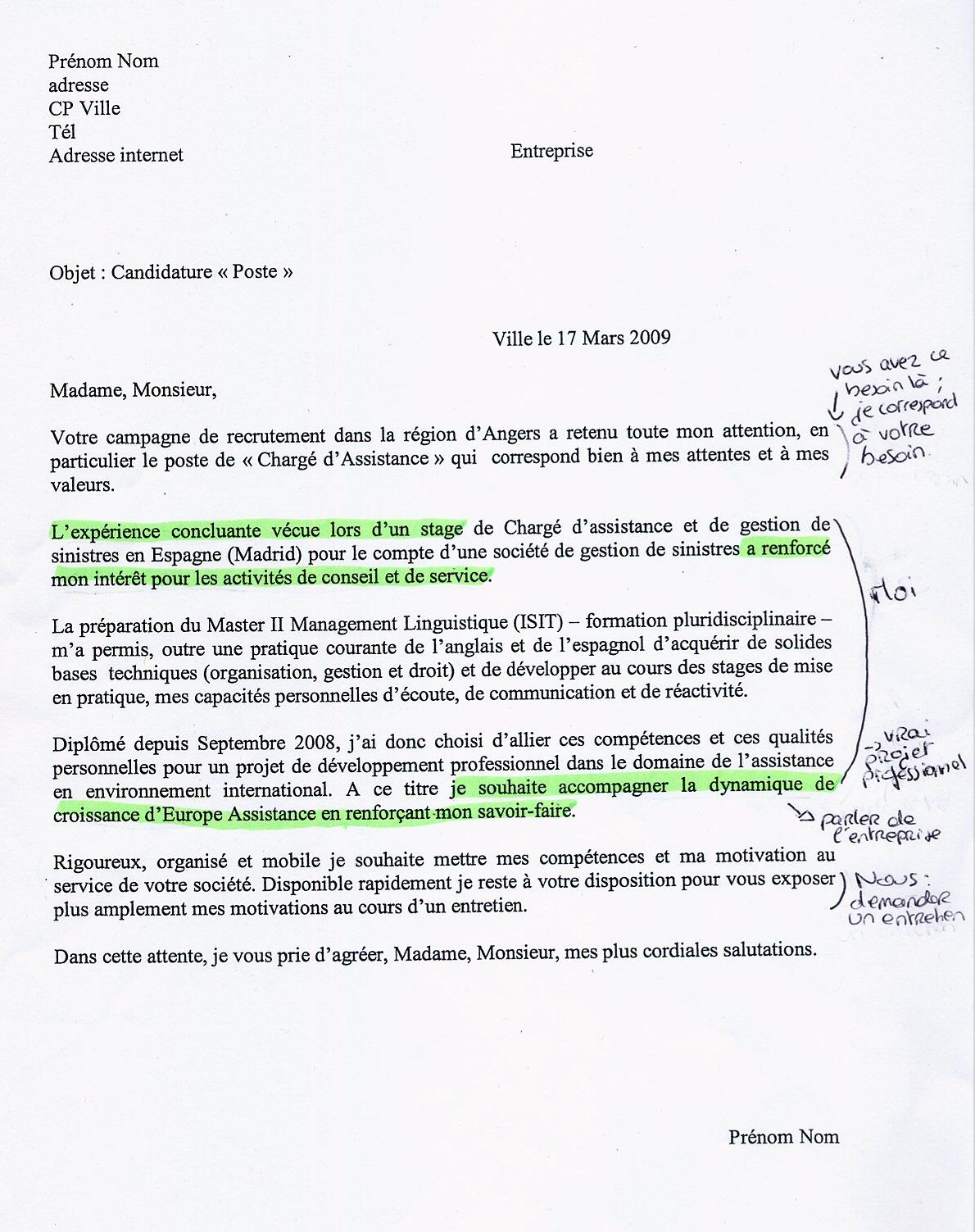 image trame lettre lettre de presentation