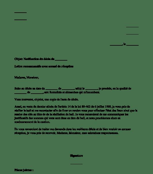 Denonciation De Bail Modle De Lettre