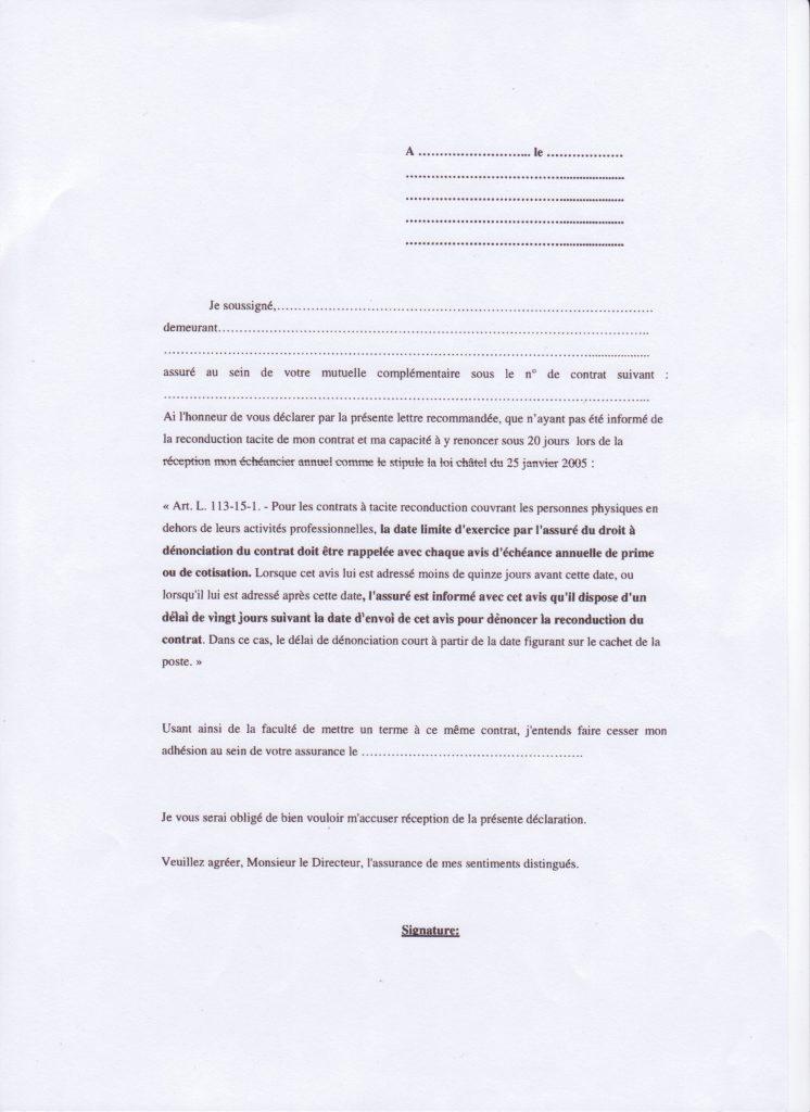 photo lettre de resiliation assurance mutuelle lettre de motivation