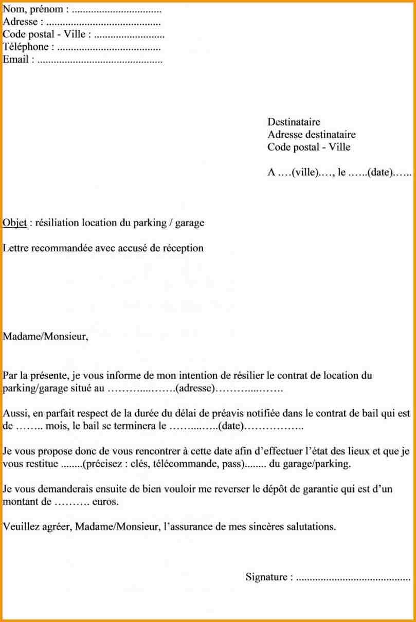 meilleur exemple de lettre de resiliation contrat modele de lettre