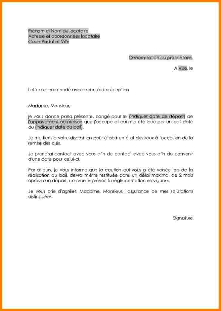 image lettre resiliation logement modele cv