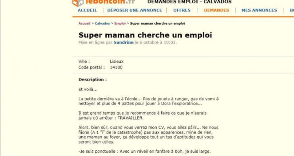 faire un cv quand on a ete mere au foyer