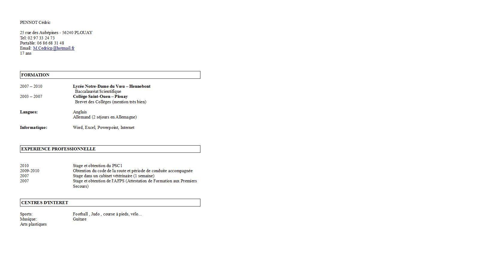 comment mettre notre cv en pdf sur parcoursup