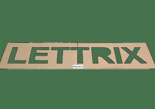Technique de poses - Options Gabarit forme lettres en carton
