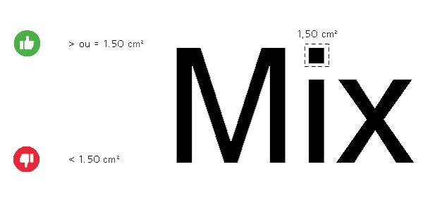 lettres formes découpées effet relief sur-mesure taille petit éléments