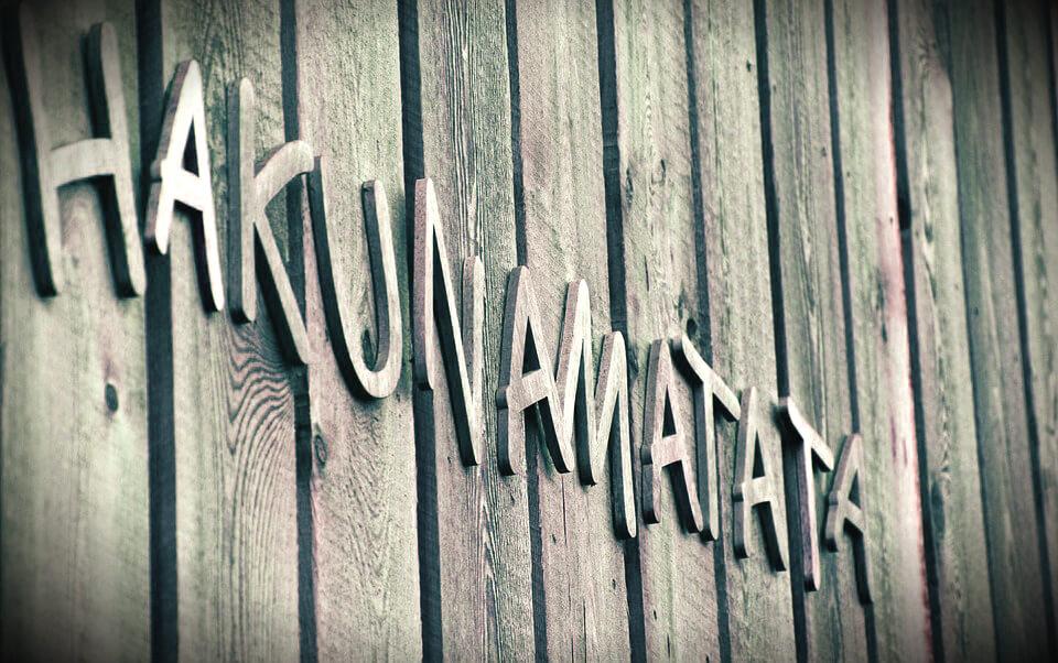 Idées cadeaux lettres découpées personnalisées effet relief citation bois hakunamatata