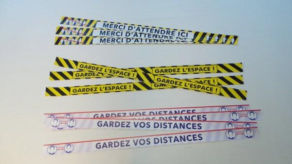 10 Bandes de marquage au sol distances de sécurité