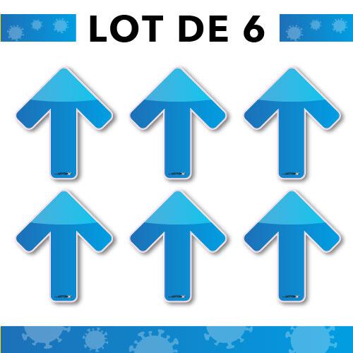 Flèches adhésives bleus