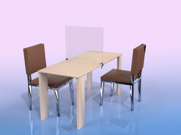 Séparateur de table 2 places
