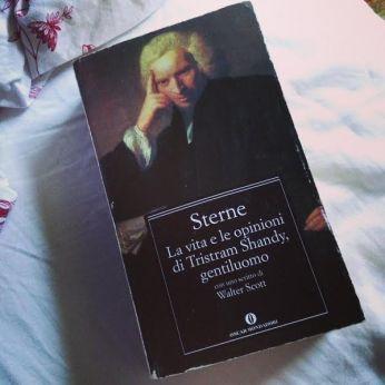 La copertina del libro di Lawrence Sterne