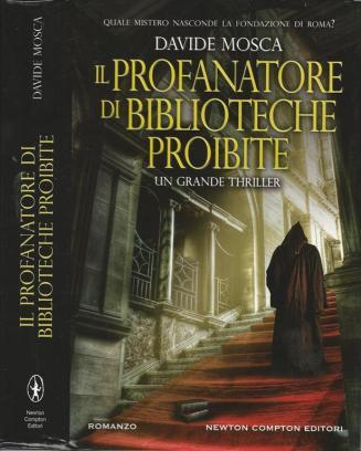 """la copertina del libro de """"Il profanatore delle biblioteche proibite"""""""